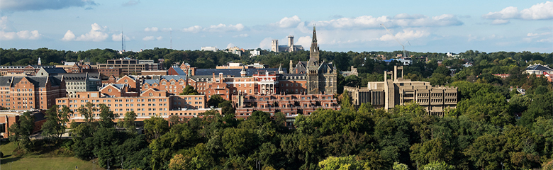 Georgetown campus from afar